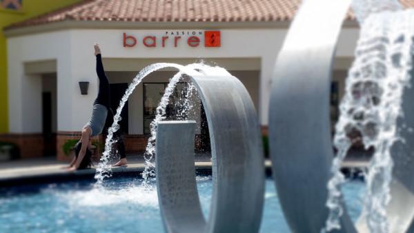Passion Barre outside Joy fountain Ponché view