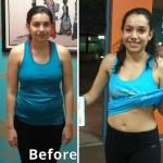 Passion Barre Myra before after baby belly gone