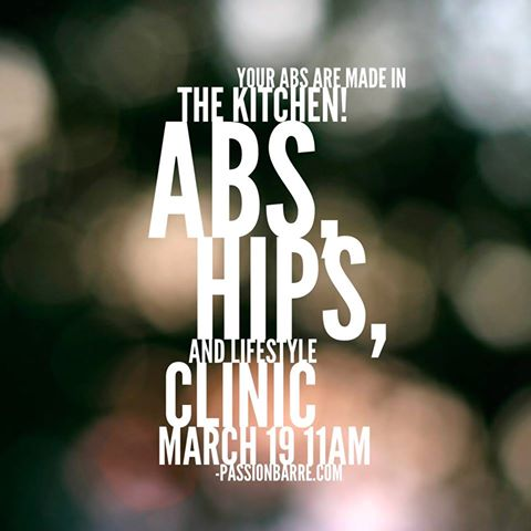 Passion Barre Abs, Hips & Lifestyle Food Clinic