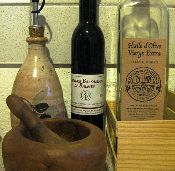 Passion Barre Blog Image of Salad Dressing Recipe bottles and mortar