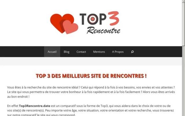 Top3rencontre - Comparatif des meilleurs sites de rencontres