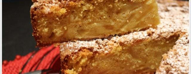 Torta di mele in crosta di amaretti