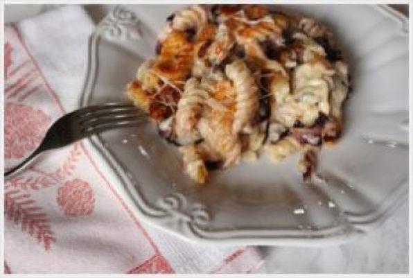 ricetta-pasta-al-forno-ai-formaggi-e-radicchio