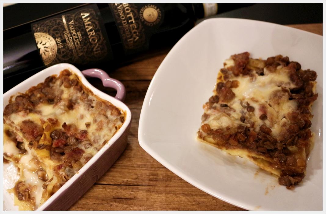 Lasagne al ragù di lenticchie e cotechino