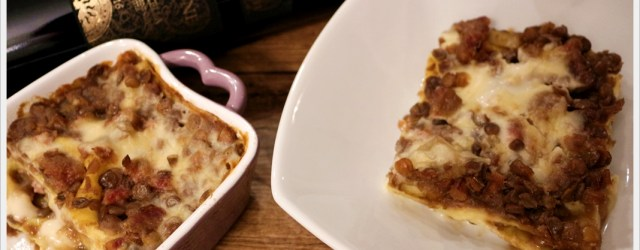 ricetta lasagne con ragù di lenticchie e cotechino