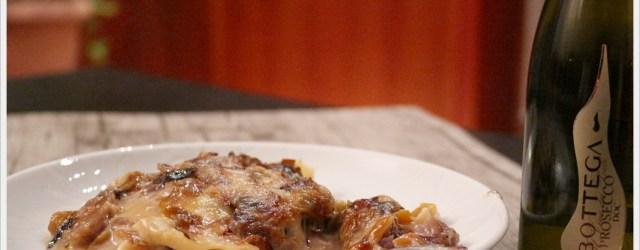 ricetta lasagne zola, radicchio e peperone .
