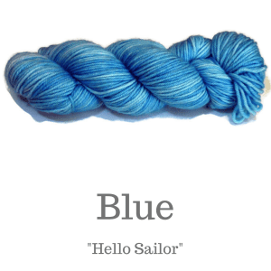 Blue Yarn included in the kit