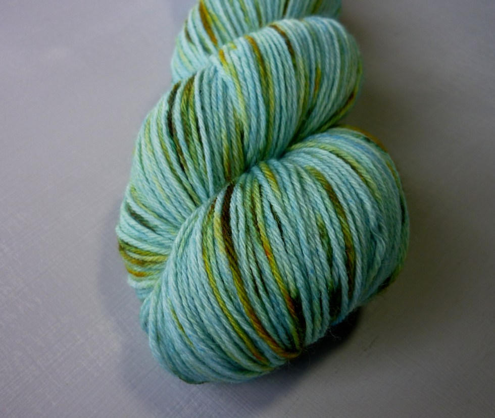 Close up Iris sock yarn