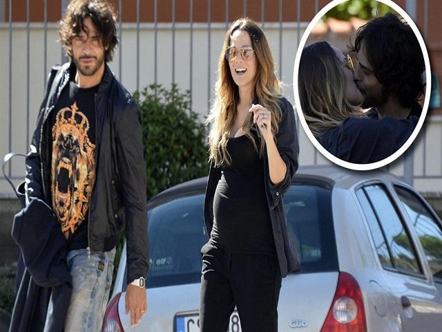 Laura Chiatti con il marito Marco Bocci nei primi mesi di gravidanza