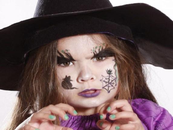 foto trucco da strega halloween make up