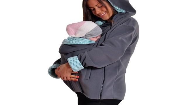 foto felpa porta bebè