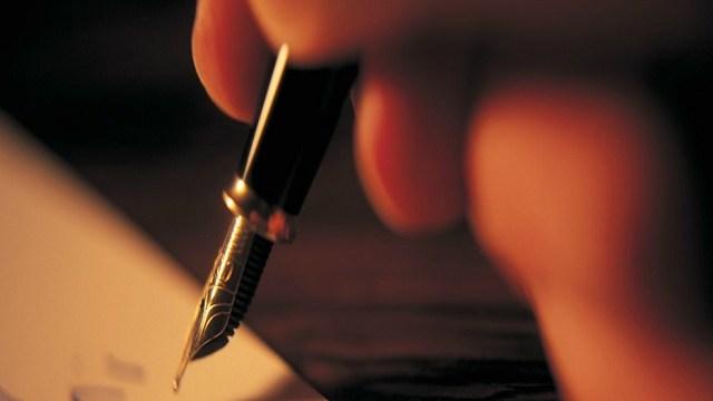 foto scrivere a mano