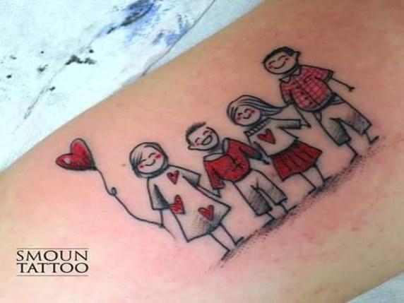 tatoo famiglia