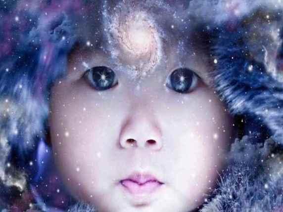 bambino aura color indaco