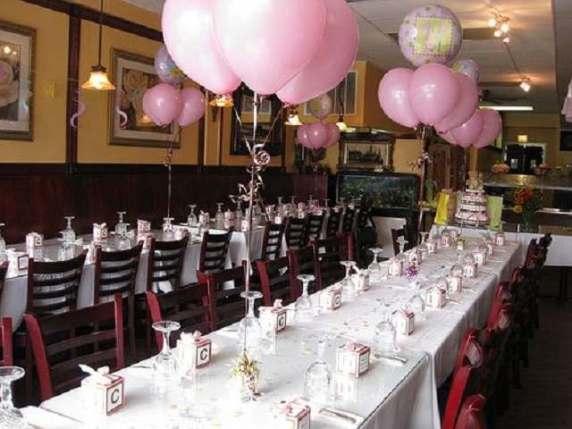 baby shower rosa al ristorante