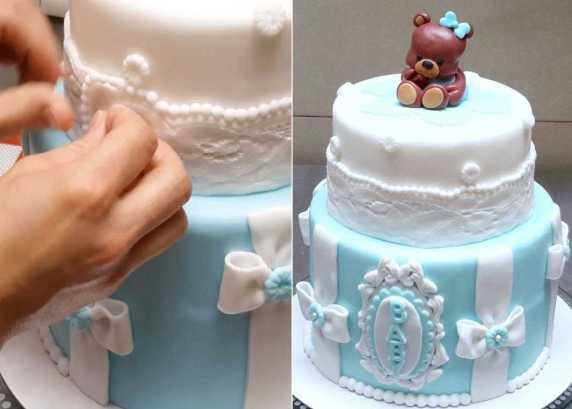 baby shower torta celeste