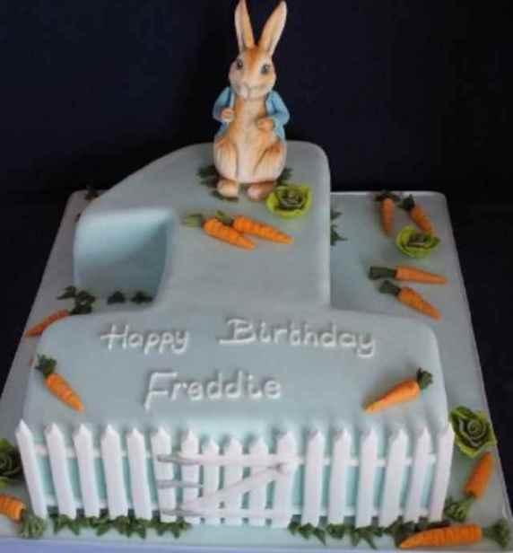 torta coniglio per primo compleanno
