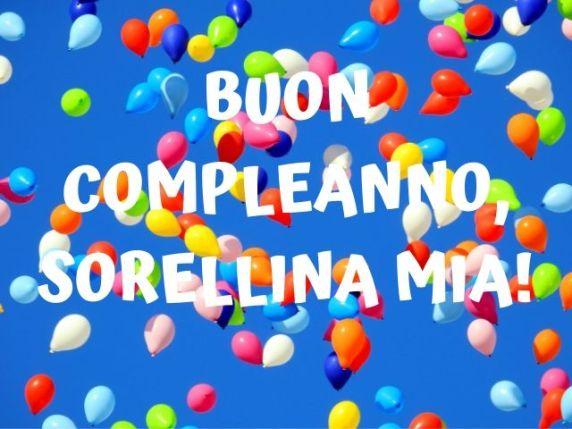 buon compleanno sorellina mia