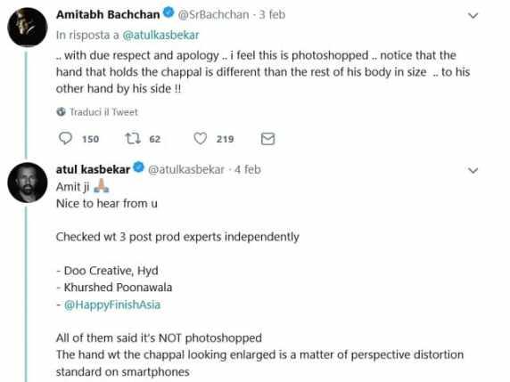 foto commento Amitabh Bachchan