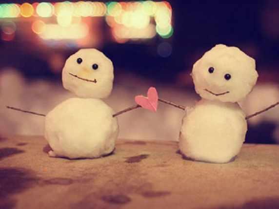 foto immagini tenere amore omini di neve