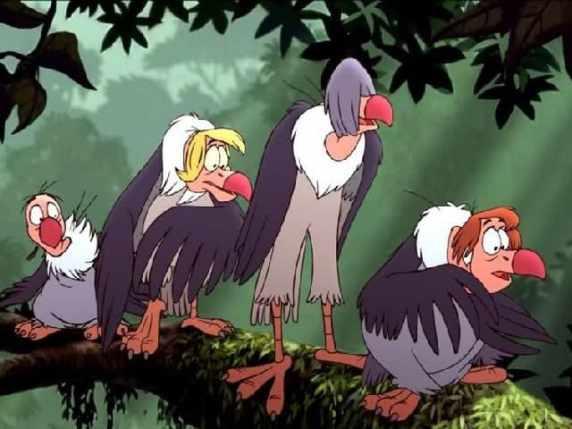 foto il libro della giungla beatles avvoltoi