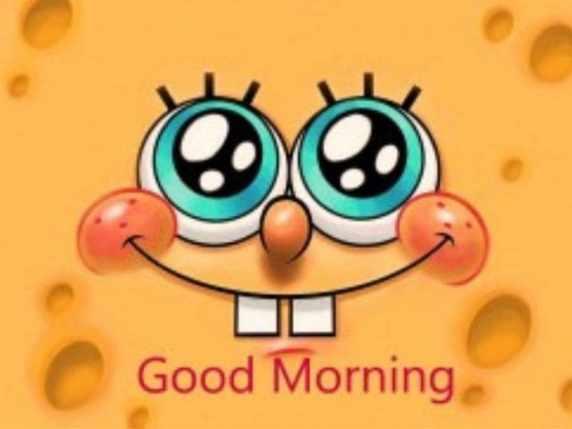 foto immagini spiritose buongiorno spongebob