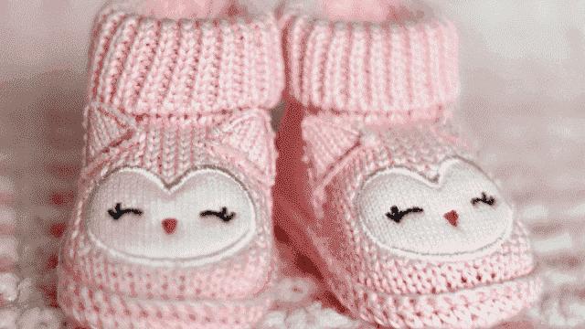 foto calzini rosa bimba