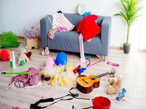casa in disordine bambini