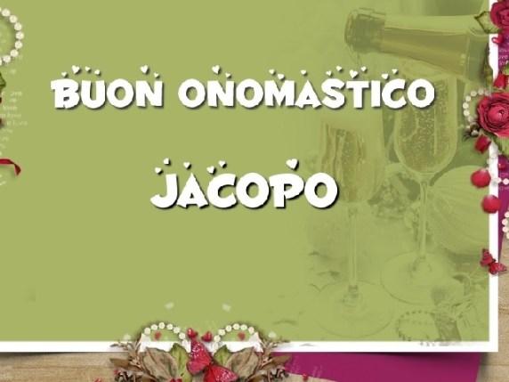 Foto auguri onomastico Santo Jacopo