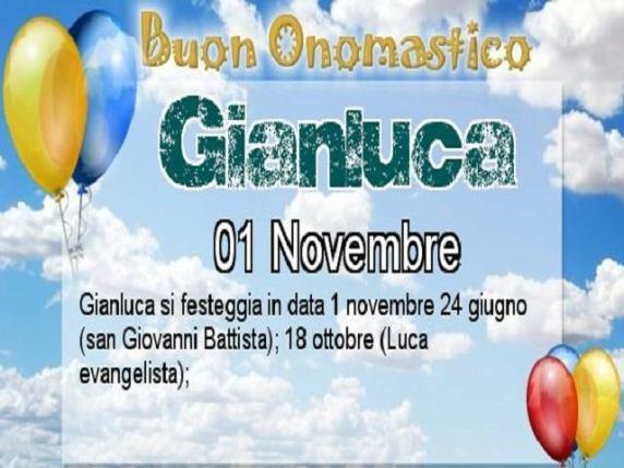 onomastico Gianluca
