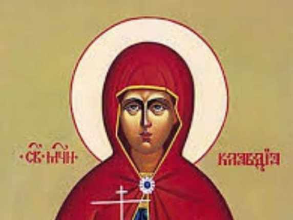 foto onomastico claudia santa