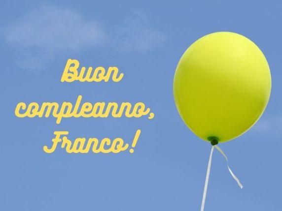 buon compleanno franco