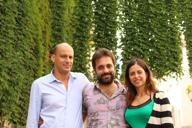 Il team di Change .org in Italia. Da sinistra: Sergio Cecchini, Salvatore Barbera e Elisa Finocchiaro.