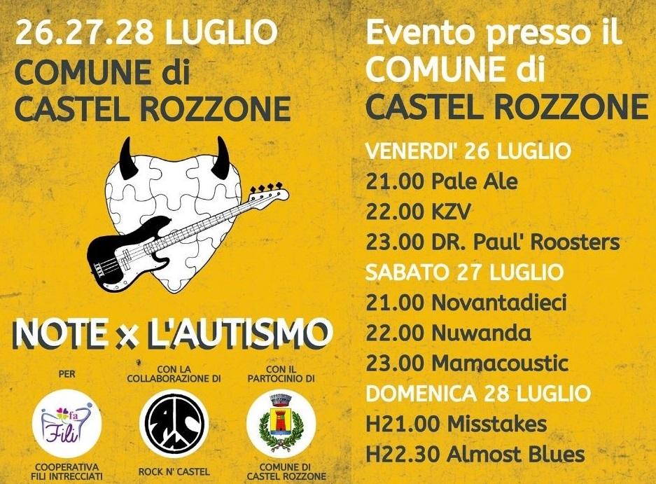 Note per l'autismo - Comune di Castel Rozzone