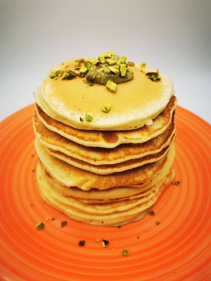 Pancake al pistacchio preparati da Ramona!