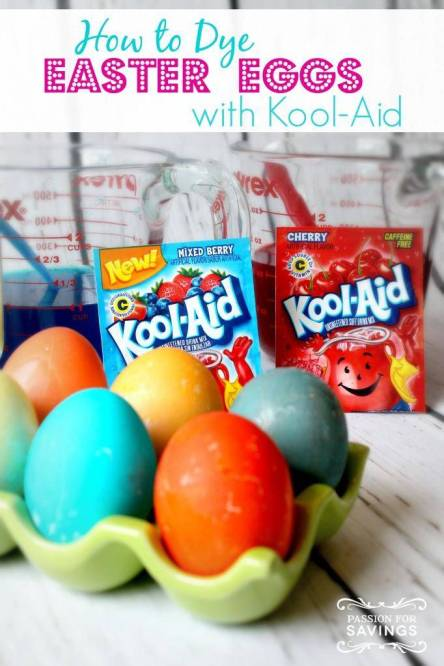 15 Things to Make with Kool-Aid  - Dye Eggs from Passion for Savings