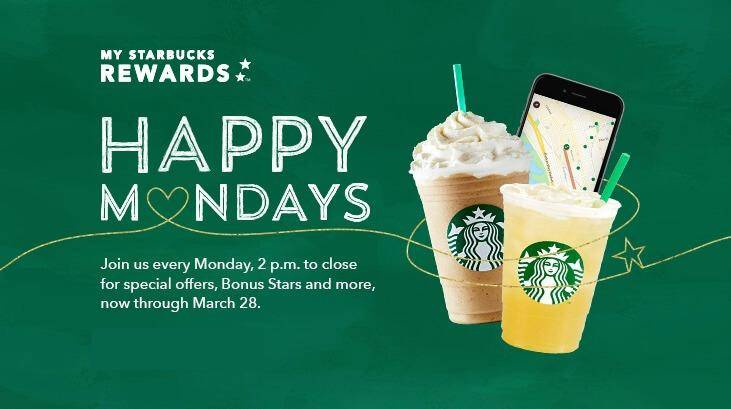 Starbucks Happy Mondays 2016 12 Price Frappucinos Today