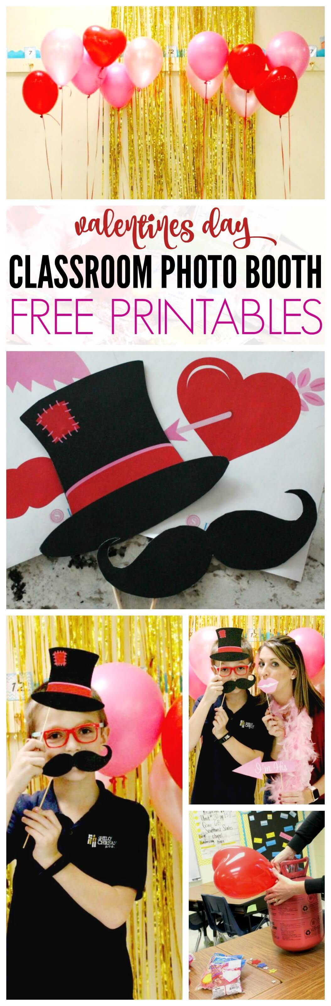 Free Printable Valentines Day Photo Booth Props