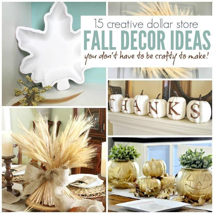 30 creative dollar store fall decor