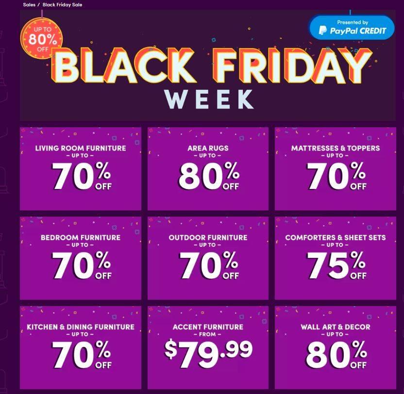 Best Black Friday Wayfair Deals Amp Cyber Monday Sales 2017