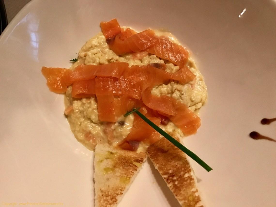 Restaurant Au Provencal - Oeufs brouillés au saumon