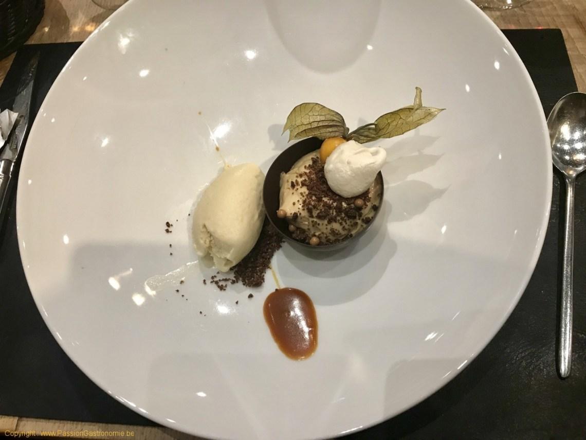 Restaurant Ferme des 4 saisons - Texture chocolatée et caramel
