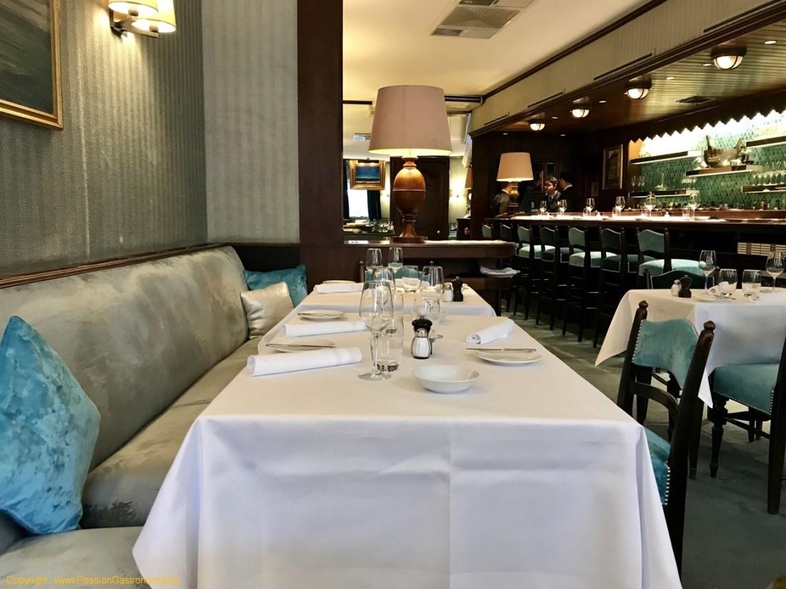 Restaurant L'Ecailler du Palais Royal - Les tables