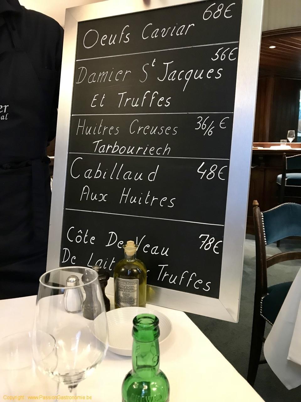 Restaurant L'Ecailler du Palais Royal - Les suggestions