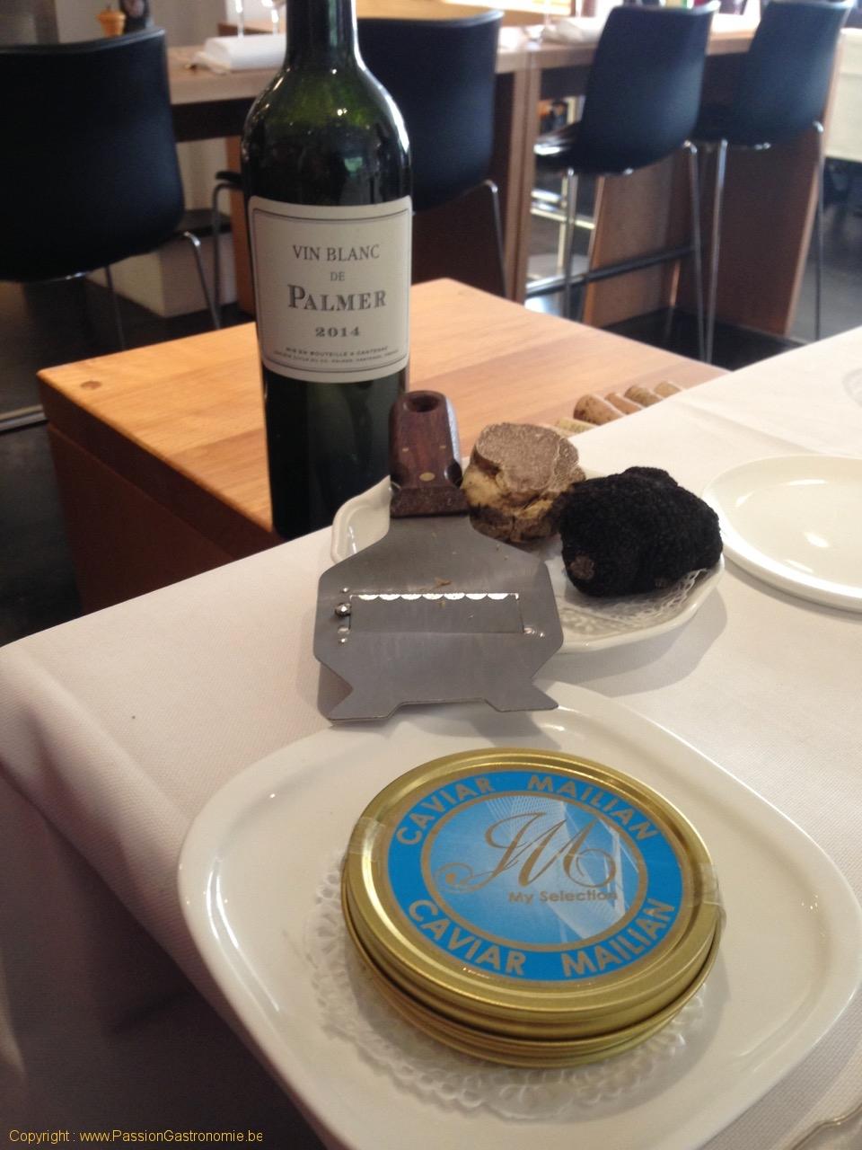 Restaurant Le Gril aux herbes d'Evan - Palmer, Caviar et Truffes blanches et noires