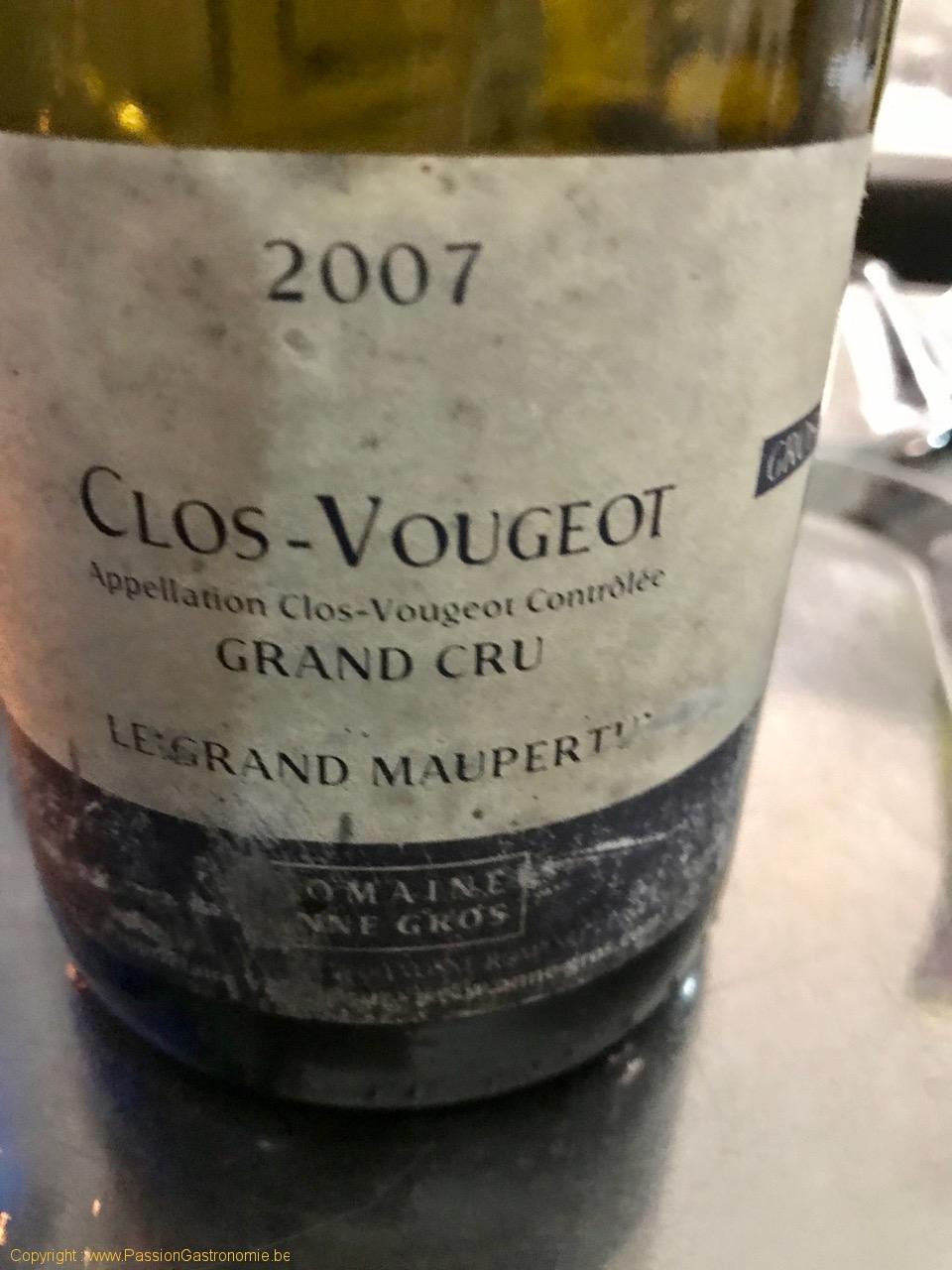 Restaurant Les Gourmands - Clos Vougeot 2007 de Anne Gros