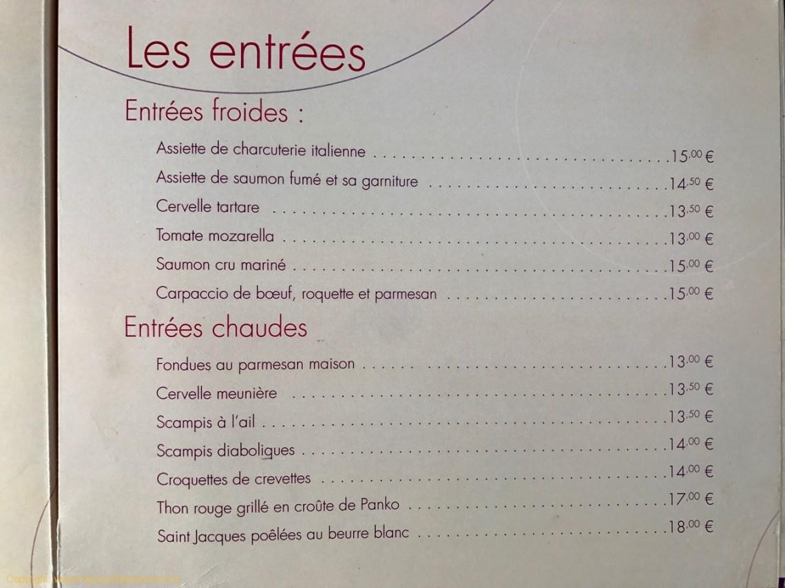 Restaurant On600Bien - Les entrées