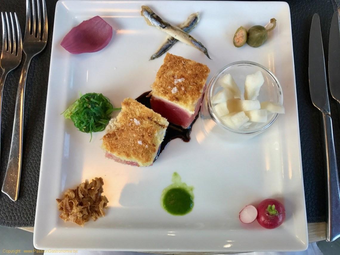 Restaurant On600Bien - Thon rouge grillé en croute de Panko