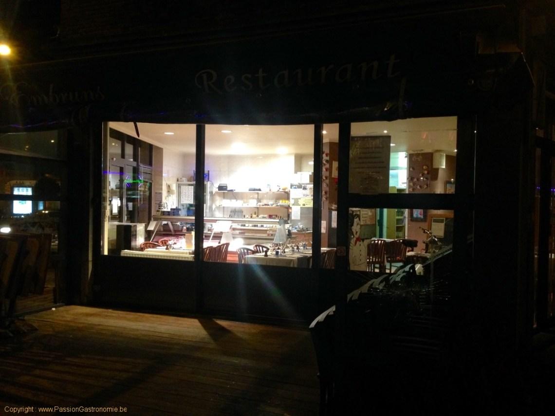Restaurant Les Embruns - Le restaurant la nuit