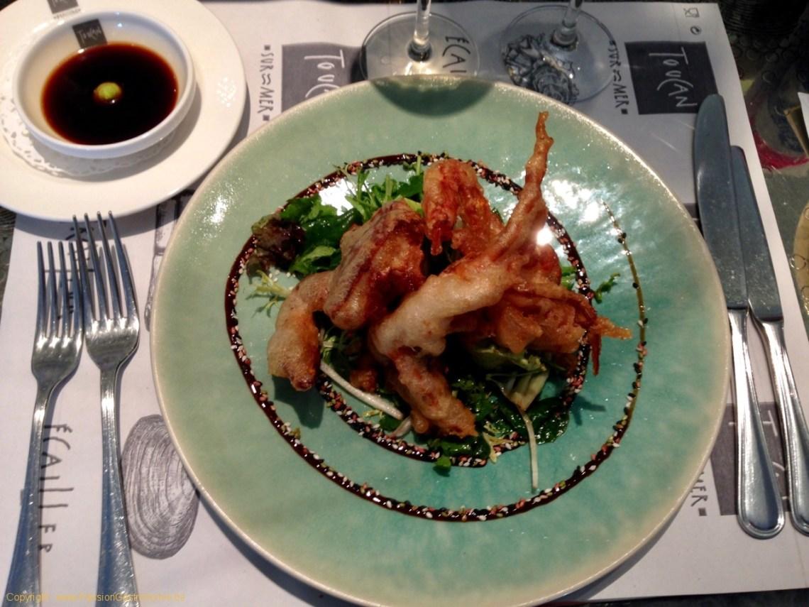 Brasserie Toucan Sur Mer - Tempuras de crabe mou
